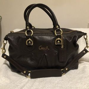 Brown Authentic Coach bowling bag